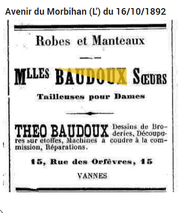 1892 BAUDOUX Theo broderie