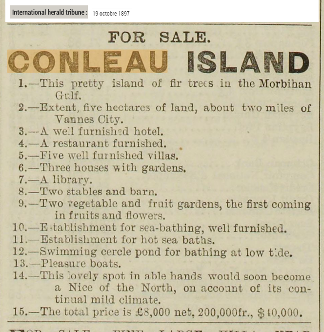 1897 10 Conleau For sale
