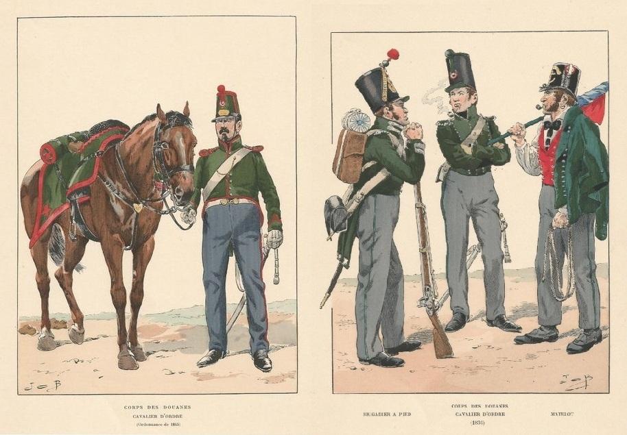 1835 1845 corps des douanes