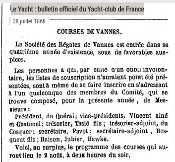 1868 Yacht SRV creation bureau